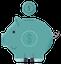 Piggybank showing good savings habit.